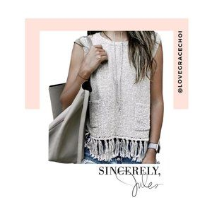 Sincerely Jules | Tulum Knit Fringe Top
